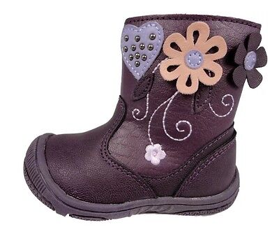 Toddler Boots Chatterbox Flower Ankle Boots Size2 New Free Delivery