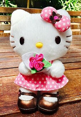 Hello Kitty with Bouquet of Roses Sanrio Plush Toy
