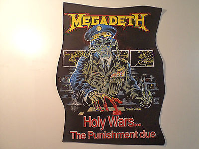 Vintage  MEGADETH  80s 90s Unused BACK PATCH metal thrash slayer anthrax shirt t