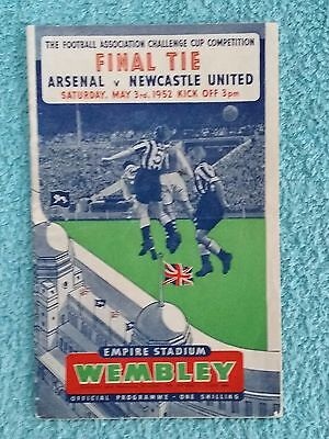 1952 - FA CUP FINAL PROGRAMME - ARSENAL v NEWCASTLE UNITED