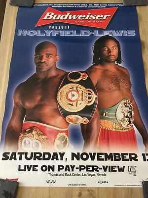 EVANDER HOLYFIELD vs. LENNOX LEWIS Official Original PPV Boxing Poster