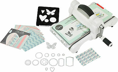 SIZZIX Big Shot Starter Kit Stanzmaschine Prägemaschine White & Grey 2017 661545