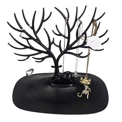 Jewelry Necklace Ring Earring Tree Stand Display Organizer Holder Show Rack A DH