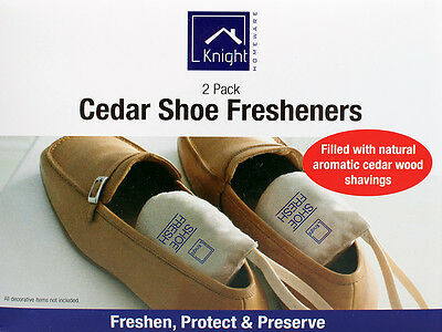 Cedar Shoes Fresheners 2 packs 100% Natural Protecting Shoes No Added Chemicals