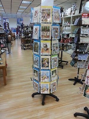 Shop / Retail Greeting Card Display Spinner Stand with 48 Pockets