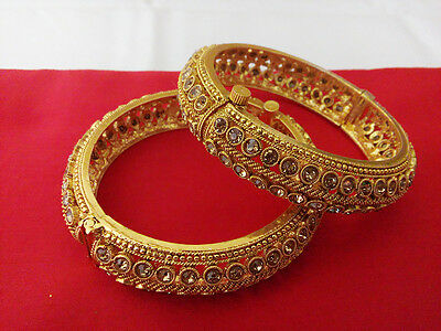 South Indian Jewelry Bangle Bracelets Bollywood Ethnic Gold Plated Traditional