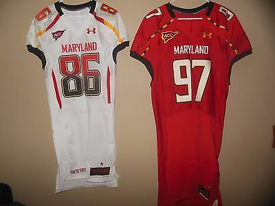 Maryland Terrapins Game Used Worn Issued Football Jersey Under Armour