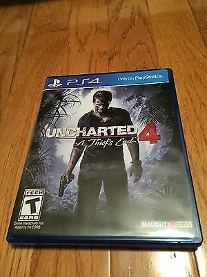 PS4 Uncharted 4 A thiefs End game disc and case online interaction Rated T
