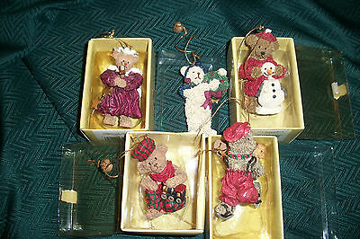 Christmas~Lot of 5~Ganz Cottage Collectibles~Christmas Holiday Ornament