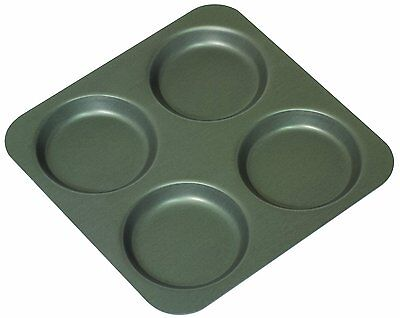 Mermaid 4 Cup Hard Anodised Yorkshire Pudding Tray Pan Tin Tart Muffin Bun Tray
