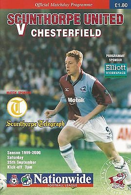 Scunthorpe United v Chesterfield, 25 September 1999, Division 2