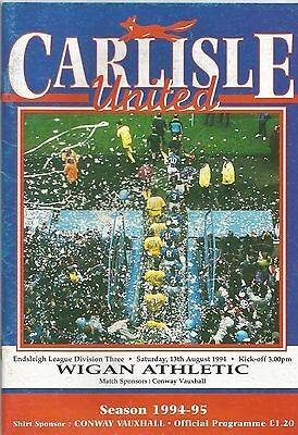 Carlisle United v Wigan Athletic, 13th August 1994, Division 3