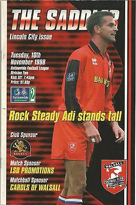Walsall v Lincoln City, 10 November 1998, Division 2