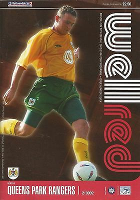 Bristol City v Queens Park Rangers, 21 September 2002, Division 2