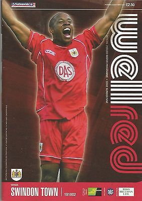 Bristol City v Swindon Town, 19 October 2002, Division 2