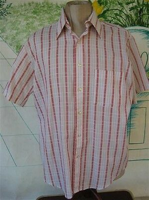 Vintage Mens Red Plaid Shirt by BVD Traditionals Size 16 1/2