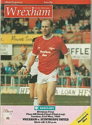 Wrexham v Scunthorpe United, 21st May 1989, Division 4 Play Off Semi-Final