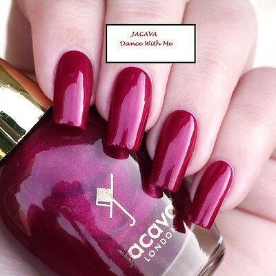 JACAVA London nail colour (Dance with me) red shimmer 12ml NEU&OVP