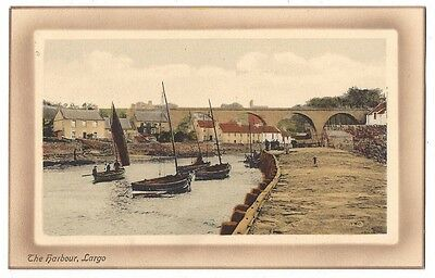 LARGO The Harbour, Old Postcard by Valentine, Unused