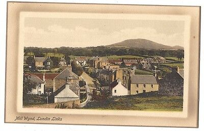 LUNDIN LINKS Mill Wynd, Old Postcard by Valentine, Unused