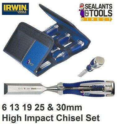 Irwin Marples MS 750 High Impact Carpenters Wood Chisel Set A 6mm to 30mm Set A