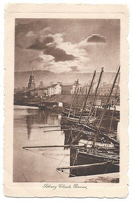GIRVAN Silvery Clouds, Postcard by Davidson, Unused