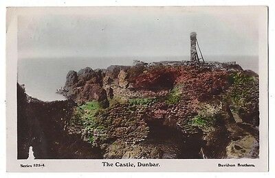 DUNBAR The Castle, Old Postcard by Davidson Postally Used 1911