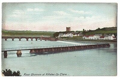 RIVER SHANNON at Killaloe, Co Clare, Ireland, Postally Used Postcard c1906