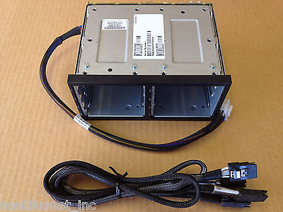 Hp 8 x SFF 2nd Hotswap SAS Drive Cage DL380 G6 G7 516914-b21 496074-001 Complete