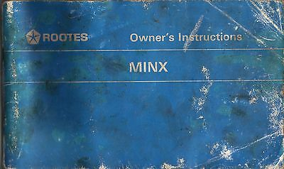Rootes Owners Instructions Minx 1968 Hillman Singer Sunbeam
