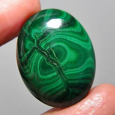 37.65 Cts 100%NATURAL ANTIQUE GREEN DESIGN MALACHITE OVAL CABOCHON EBAY GEMS