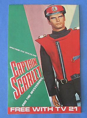 CAPTAIN SCARLET Sticker Book Free With TV 21
