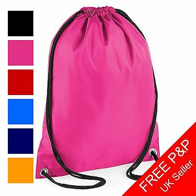 Pull String Bag - Waterproof Gymsac - Choice of Colours