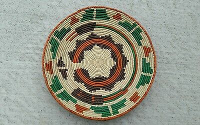 Hand Woven SouthWestern shallow bowl Basket, approx. 13inches