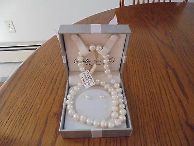 Belle de Mer Cultured Pearl Necklace and Earring Set 171/2 NECKLACE NWT