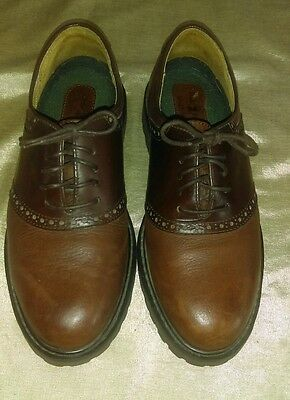 Duck Head Brown Leather Oxford Lace Up Shoes Size Men's 8 NICE!