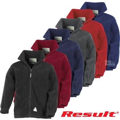 Childrens Kids Full Zip Active Fleece Jacket Full Sleeves Athletic Fit Jackets