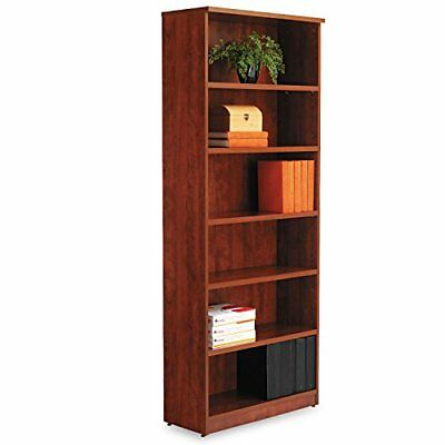 Alera Valencia Series Bookcase/Storage Cabinet, 6 Shelves, 32 W by 14 1/2 D by 8