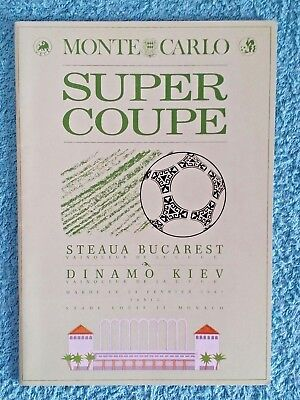 1986 - UEFA SUPER CUP FINAL PROGRAMME - STEAUA BUCHAREST v DYNAMO KIEV