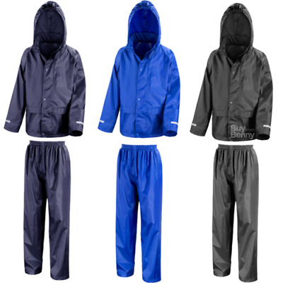 Result Core R225J Junior Kids Childrens Rain Suits Waterproof Jacket Trousers