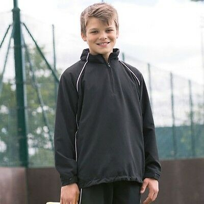Finden & Hales LV892 Kids Team Overtop Junior 1/4 Zip Sports Jacket Training Top