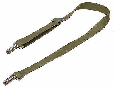 Swiss Army Shoulder Strap With Metal Clips sling olive strong webbing 100cm 40""