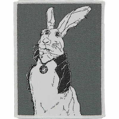 Queens Of The Stone Age Men's Rabbit Woven Patch Grey