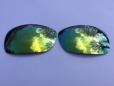 NEW ENGRAVED POLARIZED 24k GOLD MIRRORED  REPLACEMENT OAKLEY HIJINX LENSES