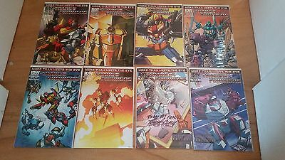 Transformers More Than Meets the Eye #19 to #22, Covers A and B for each, IDW