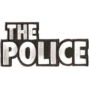 Police Men's Embroidered Patch White