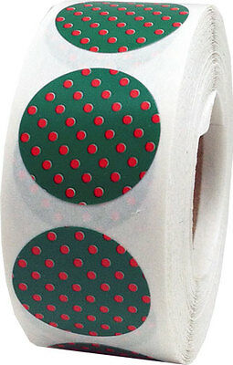 Circle Polka Dot Stickers, 3/4 Inch Round Labels, 500 per Roll, 31 Color Choices