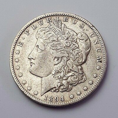 U.s.a - Dated 1894 - Silver - Morgan - $1 One Dollar Coin - American Silver Coin
