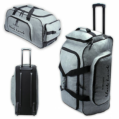 "DERNIER Borsa Trolley XL da viaggio roll bag Valigia con ruote ""BLACK HAWK"""