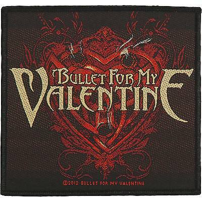 Bullet For My Valentine Men's Heart Of Holes Woven Patch Black